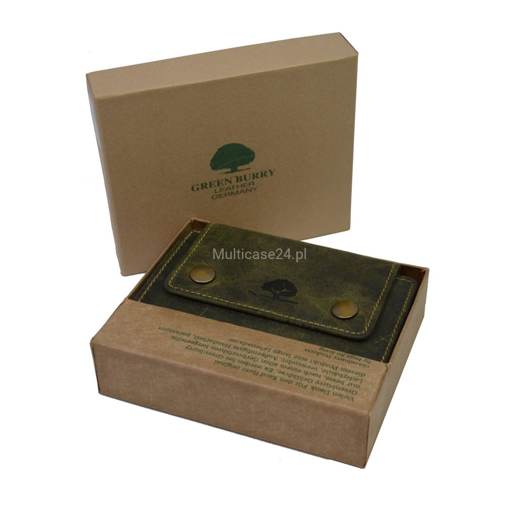 ff30ad6dae31f portfel skórzany damski Greenburry Vintage  portfel damski skórzany Vintage  olive ...